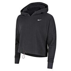 Nike Womens Dri-Fit Icon Clash Cropped Training Hoodie Black XS, Black, rebel_hi-res