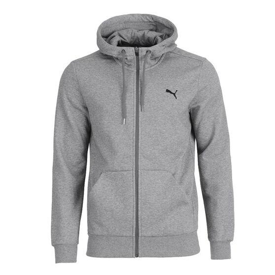 Puma Mens Essential Full Zip Hoodie, Grey, rebel_hi-res