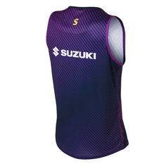 Melbourne Strom 2020 Mens Training Singlet Purple S, Purple, rebel_hi-res