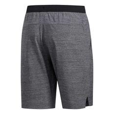 adidas Mens Heather Woven 3 Stripes Shorts, Black, rebel_hi-res