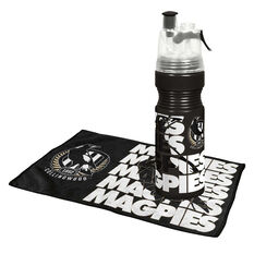 Collingwood Magpies Water Bottle and Gym Towel Pack, , rebel_hi-res