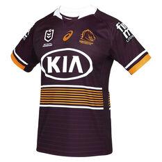 Brisbane Broncos 2021 Mens Home Jersey Maroon S, Maroon, rebel_hi-res