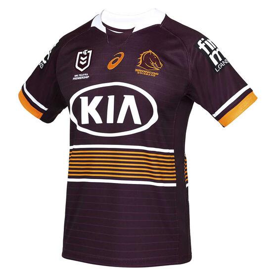 Brisbane Broncos 2021 Mens Home Jersey, Maroon, rebel_hi-res