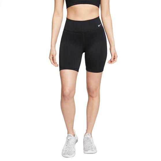 Nike Womens One 7 Inch Shorts, Black, rebel_hi-res
