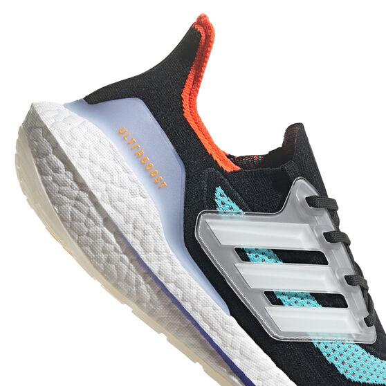 adidas Ultraboost 21 Mens Running Shoes, Black/White, rebel_hi-res