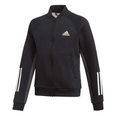 adidas Girls ID Jacket Black / White 8, Black / White, rebel_hi-res