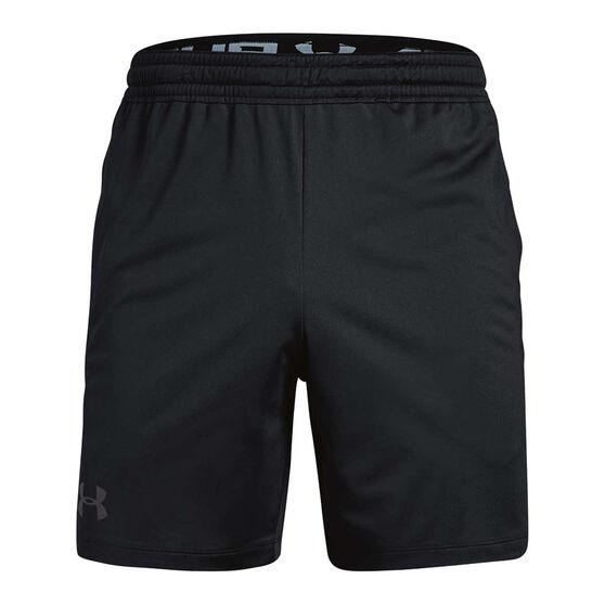 Under Armour Mens MK 1 7in Shorts, Black / Charcoal, rebel_hi-res