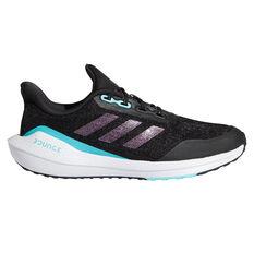 adidas EQ21 Run Kids Running Shoes Black/Pink US 4, Black/Pink, rebel_hi-res