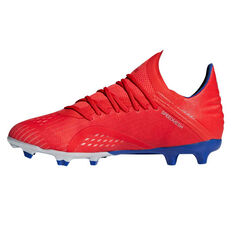 adidas X 18.1 Kids Football Boots Red / Silver US 2, Red / Silver, rebel_hi-res