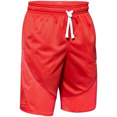 Under Armour Boys SC30 Shorts Red / White XS, Red / White, rebel_hi-res