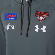 Essendon Bombers 2020 Mens EFC Players Hoodie, Grey, rebel_hi-res