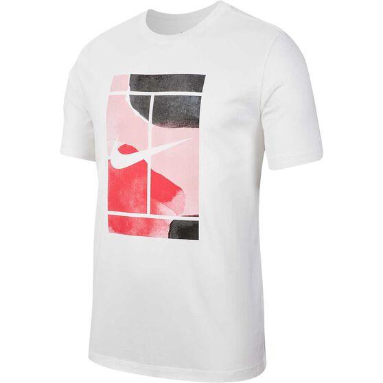 Nike Court Mens Tennis Tee, White, rebel_hi-res