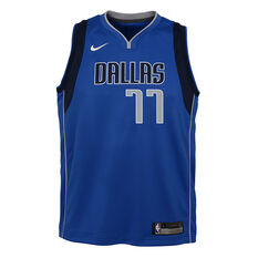 Nike Dallas Mavericks Luka Doncic 2020/21 Kids Icon Jersey Blue S, Blue, rebel_hi-res