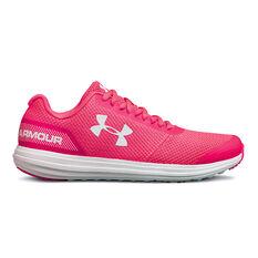 Under Armour Surge Kids Running Shoes Pink / White US 4, Pink / White, rebel_hi-res