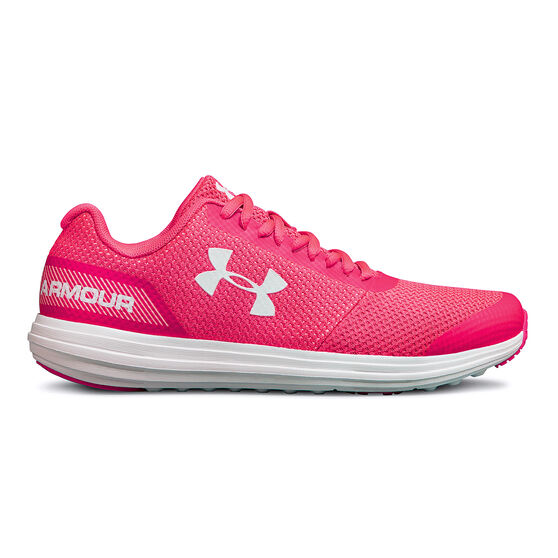 Under Armour Surge Kids Running Shoes, Pink / White, rebel_hi-res