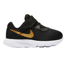 Nike Tanjun Toddlers Shoes Black / Gold US 2, Black / Gold, rebel_hi-res