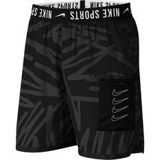 Nike Mens Training Shorts Black / White XS, Black / White, rebel_hi-res