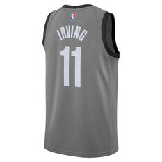 Nike Brooklyn Nets Kyrie Irving 2020/21 Mens Statement Edition Swingman Jersey Grey S, Grey, rebel_hi-res
