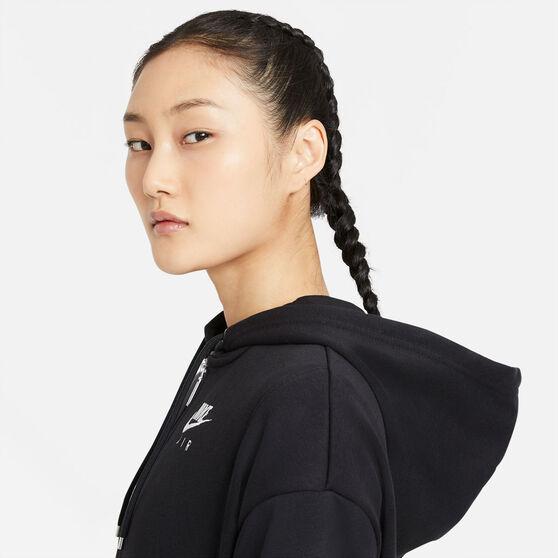 Nike Air Womens Air Full-Zip Fleece Hoodie, Black, rebel_hi-res