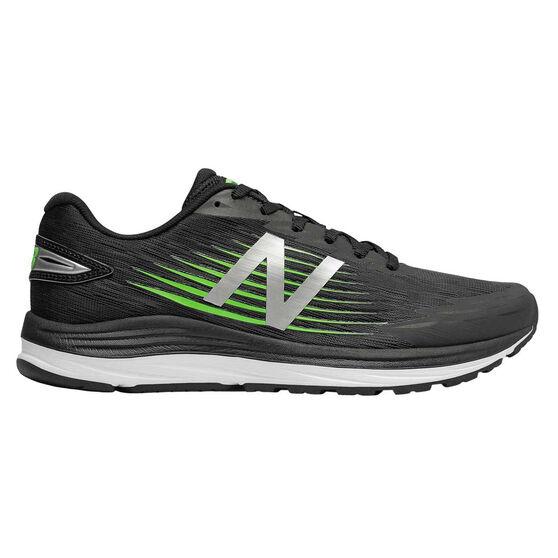 New Balance Synact Mens Running Shoes, Black / Green, rebel_hi-res