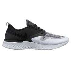 Nike Odyssey React Flyknit 2 Womens Running Shoes Black / White US 6, Black / White, rebel_hi-res