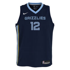 Nike Memphis Grizzlies Ja Morant 2020/21 Kids Icon Jersey Navy S, Navy, rebel_hi-res