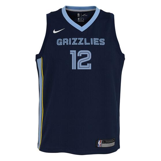 Nike Memphis Grizzlies Ja Morant 2020/21 Kids Icon Jersey, Navy, rebel_hi-res