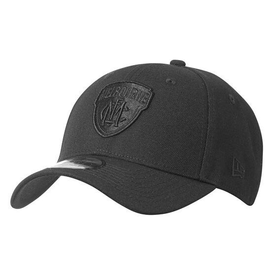 Melbourne Demons New Era Black on Black 9FORTY Cap, , rebel_hi-res