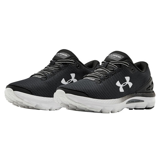 Under Armour Charged Gemini Womens Running Shoes, Black, rebel_hi-res