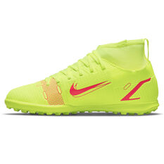 Nike Mercurial Superfly 8 Club Kids Touch and Turf Boots Yellow/Black US 1, Yellow/Black, rebel_hi-res