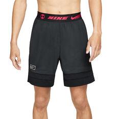 Nike Mens Sports Clash Shorts Black S, Black, rebel_hi-res