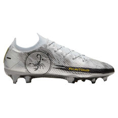 Nike Phantom GT Scorpion Elite Football Boots Silver US Mens 7 / Womens 8.5, Silver, rebel_hi-res