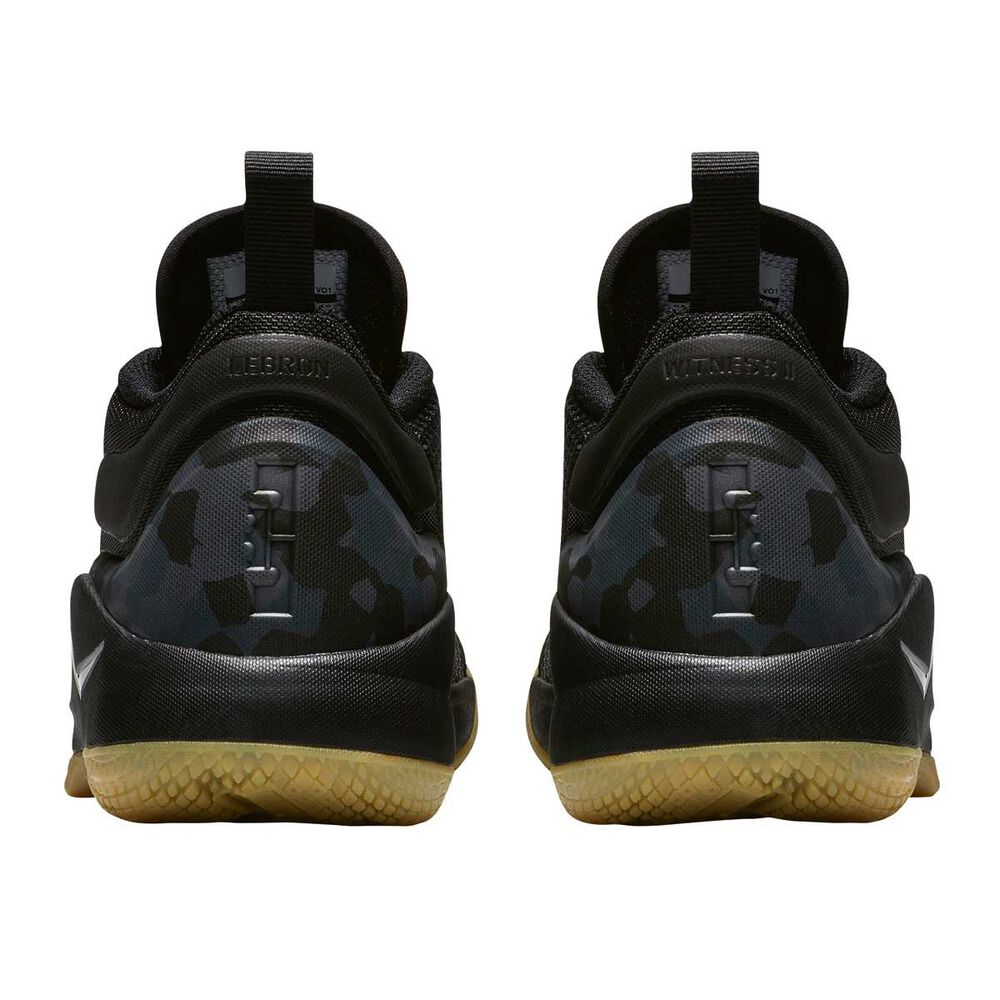 99a3c3a9b77 Nike LeBron Witness II Boys Basketball Shoes Black   Brown US 4 ...