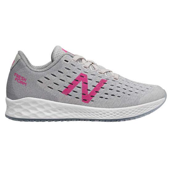New Balance Fresh Foam Zante v4 Kids Running Shoes, Grey / Pink, rebel_hi-res