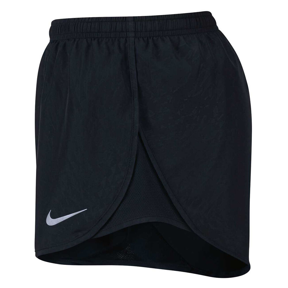 new york 72100 58b7e Nike Womens Dry Tempo Running Shorts Black   Silver XS Adult, Black    Silver,