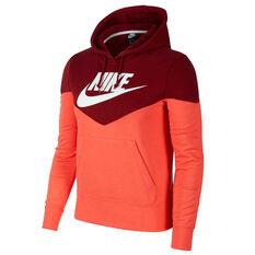 Nike Womens Sportswear Heritage Hoodie Red XS, Red, rebel_hi-res