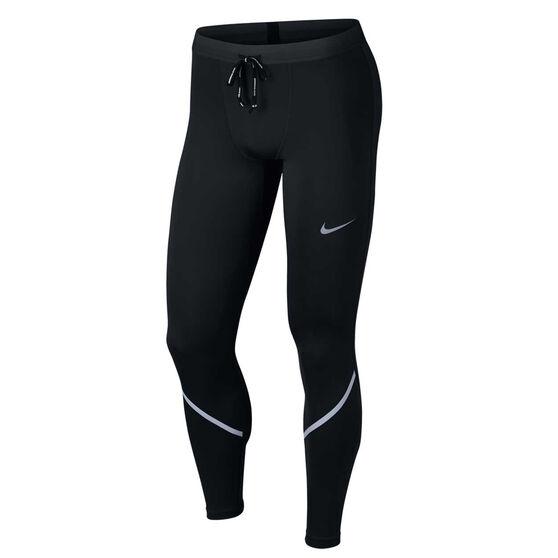 Nike Mens Power Tech Running Tights, Black, rebel_hi-res