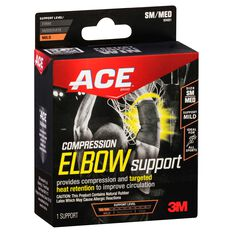 ACE Compression Elbow Support Black S / M, Black, rebel_hi-res