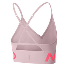 Nike Pro Womens Indy Light Support Sports Bra Pink XS, Pink, rebel_hi-res