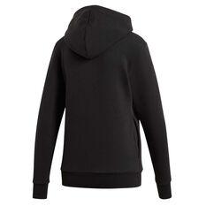 adidas Womens Essentials 3 Stripes Pullover Hoodie Black XS, Black, rebel_hi-res