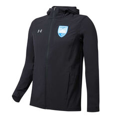Sydney FC 2019/20 Mens Rain Jacket Black S, Black, rebel_hi-res
