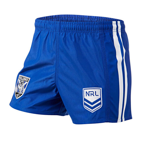 Canterbury-Bankstown Bulldogs Mens Home Supporter Shorts Blue S, Blue, rebel_hi-res