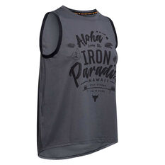 Under Armour Womens Project Rock Aloha Tank Grey XS, , rebel_hi-res