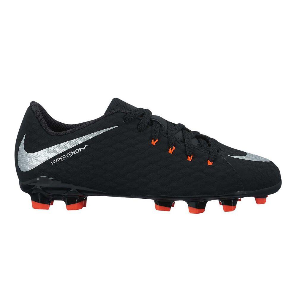 0223346e67bc Nike Hypervenom Phade III Junior Boys Football Boots Black   Silver US 4  Junior