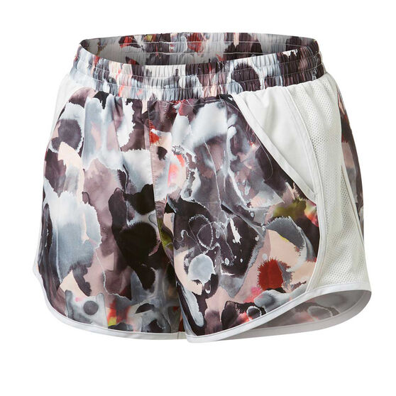 Under Armour Womens Fly By Printed Shorts, Orange, rebel_hi-res