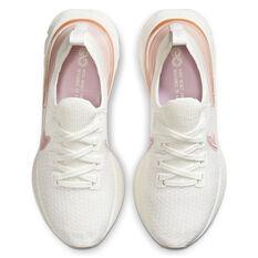 Nike React Infinity Run Flyknit Womens Running Shoes, White/Pink, rebel_hi-res