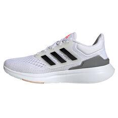 adidas EQ21 Womens Running Shoes White/Black US 6, White/Black, rebel_hi-res