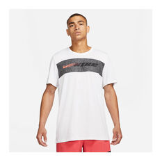 Nike Mens Dri-FIT Superset Training Tee White S, White, rebel_hi-res