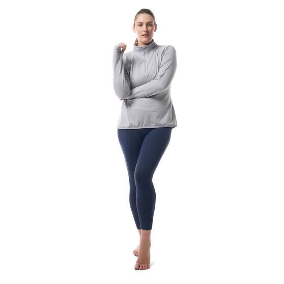 Ell & Voo Womens Hayley 1/4 Zip Brushed Fleece Top, Grey, rebel_hi-res