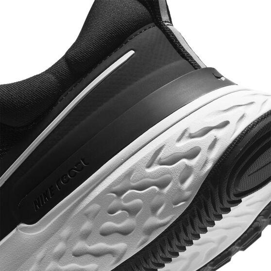 Nike React Miler 2 Mens Running Shoes, Black/White, rebel_hi-res